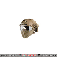 WoSporT Tactical Piloteer Bump Helmet & Mask w/ Adapter - Tan Head - Helmets- ModernAirsoft.com