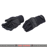 ACM Airsoft Hard Knuckle Reinforced Touch Screen Tactical Assault Gloves Full Finger AC-806 - Black Gloves- ModernAirsoft.com
