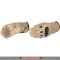 ACM Airsoft SI Style Hard Knuckle Reinforced Tactical Assault Gloves Full Finger AC-807 - Tan Gloves- ModernAirsoft.com