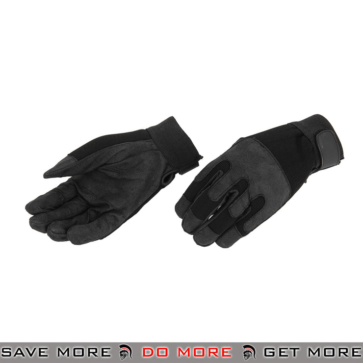 ACM Airsoft Flexible Tactical Army Gloves Full Finger AC-808 - Black Gloves- ModernAirsoft.com