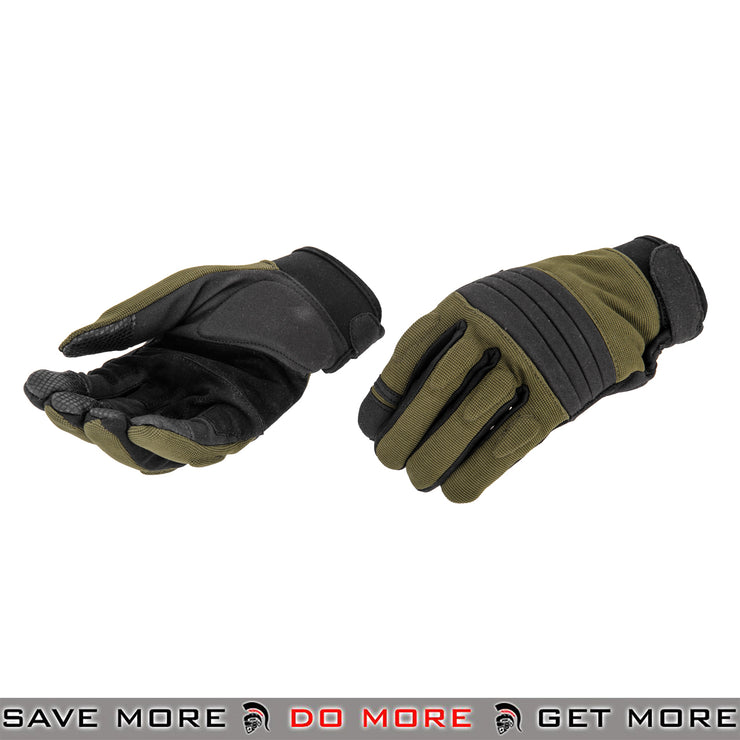 ACM Airsoft OPS Tactical Padded Gloves Full Finger AC-811 - Sage Gloves- ModernAirsoft.com