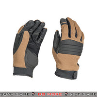 ACM Airsoft OPS Tactical Padded Gloves Full Finger AC-812 - Tan Gloves- ModernAirsoft.com