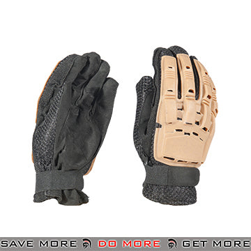 ACM Airsoft Paintball Armored Reinforced Assault Full Finger Gloves AC-817 - Tan Gloves- ModernAirsoft.com