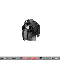 WoSporT Tactical Helmet w/ NVG & Transfer Base - Black Head - Helmets- ModernAirsoft.com