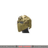 WoSporT Tactical Helmet w/ NVG & Transfer Base - Tan Head - Helmets- ModernAirsoft.com