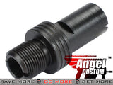 Angel Custom 12mm+ to 14mm- CNC Steel Thread Adapter for KSC MP7 Series Airsoft GBB Adapters- ModernAirsoft.com