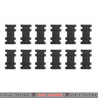 JBU Tactical Textured Rubber Rail Cover Panels Set - 12 pcs, Black Rail Accessories- ModernAirsoft.com