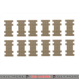 JBU Tactical Textured Rubber Rail Cover Panels Set - 12 pcs, Tan Rail Accessories- ModernAirsoft.com