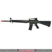 JG M16A1 w/ Handguard & Removable Carry Handle Full Size Airsoft M16 AEG Rifle - Black