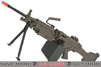 A&K M249 MK-II Full Metal SAW Airsoft AEG with Electric Drum Magazine (Tan) M60 / M249 / MK46 / M240- ModernAirsoft.com