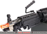 A&K M249 Para Trooper Full Metal SAW Airsoft AEG w/ Electric Drum Mag M60 / M249 / MK46 / M240- ModernAirsoft.com