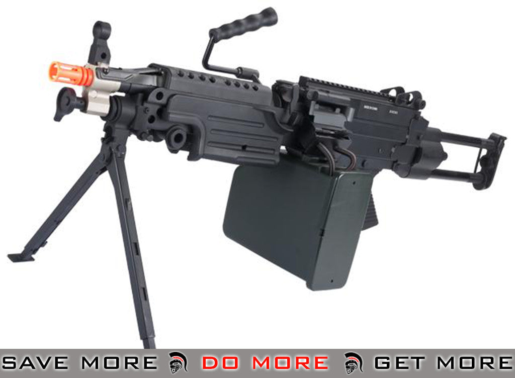 - A&K M249 Para Trooper Full Metal SAW Airsoft AEG w/ Electric Drum Mag
