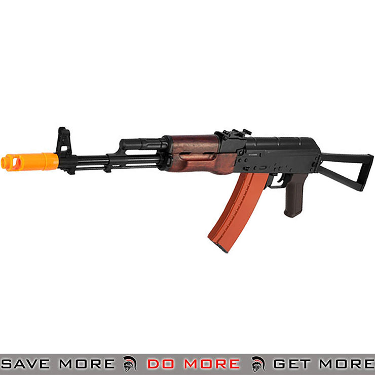 APS Full Metal AK74 Full Stock Electric Blowback Airsoft AEG Rifle with Real Wood Furniture