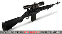 AGM Full Size MP008 M14 Airsoft AEG Sniper Rifle w/ Scope Mount (Black) M14 / M1A / SOC-16 / EBR- ModernAirsoft.com