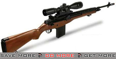 Matrix AGM MP008 M14 Full Size Airsoft AEG Sniper Rifle w/ Scope Mount - Imitation Wood (Package: Rifle) M14 / M1A / SOC-16 / EBR- ModernAirsoft.com