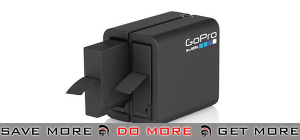 GoPro Dual Battery Charger with Extra Battery for HD HERO4 Professional Wearable Cameras