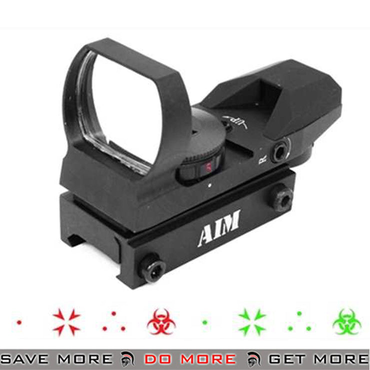 AIM Sports Special Ops Edition Panoramic Airsoft Green / Red Dot Sight for Picatinny Rails