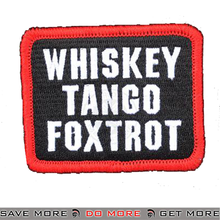 AMS Whiskey Tango Foxtrot Embroidered Airsoft Velcro Morale Patch