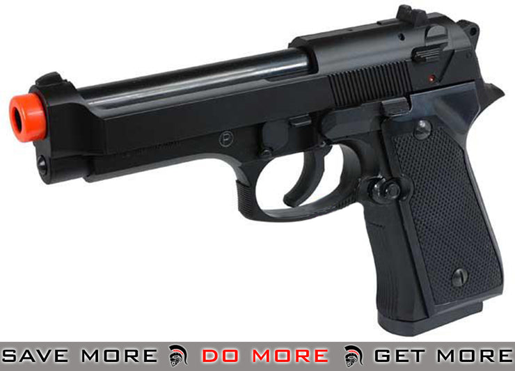 HFC M9 High Grade Heavy Weight Airsoft Pistol - Black Air Spring Pistols- ModernAirsoft.com
