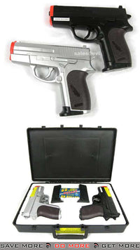 CSI Two Airsoft Spring Pistol w/ Case Gift Package Air Spring Pistols- ModernAirsoft.com