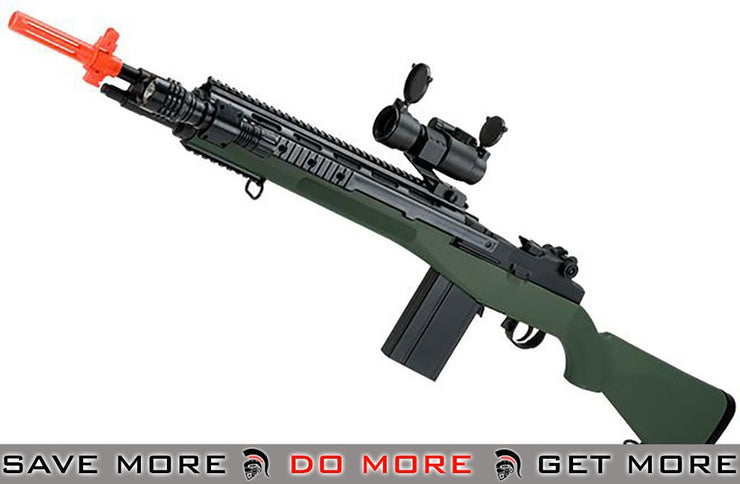 AGM OD Green M14 SOCOM Airsoft Spring Powered Rifle Package Air Spring Rifles- ModernAirsoft.com