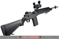 AGM Black M14 Full Size Airsoft Spring Powered Sniper Rifle with Red Dot & Flashlight - Modern Airsoft
