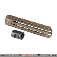ARES 10-INCH METAL AIRSOFT KEYMOD HANGUARD  - ARES-KM-004S-DE