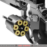 Dan Wesson CO2 Powered 4.5mm BB Revolver with 6 Revolver - Silver