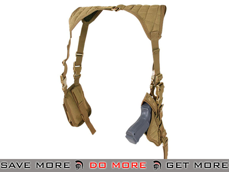 Condor Coyote Brown Vertical Shoulder Holster Holsters - Fabric- ModernAirsoft.com