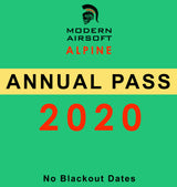 Annual pass to Modern Airsoft Alpine Park