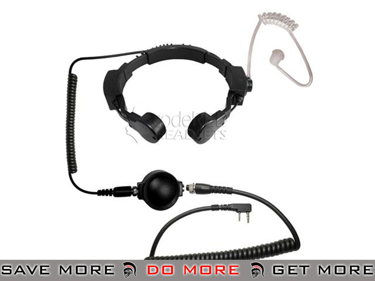 Code Red Headsets ASSAULT Tactical Throat Mic w/ PTT - Kenwood 2-Pin Head - Headsets- ModernAirsoft.com