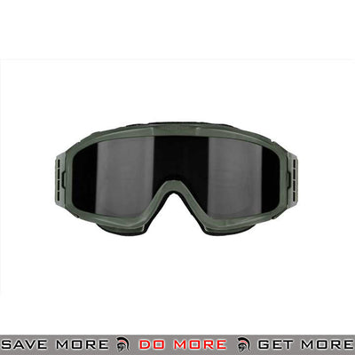 Bobster Airsoft Alpha ANSI Z87 Ballistic Rated Tactical Goggles w/ 2 Lenses BAL-BALP101G - OD Green Head - Goggles- ModernAirsoft.com