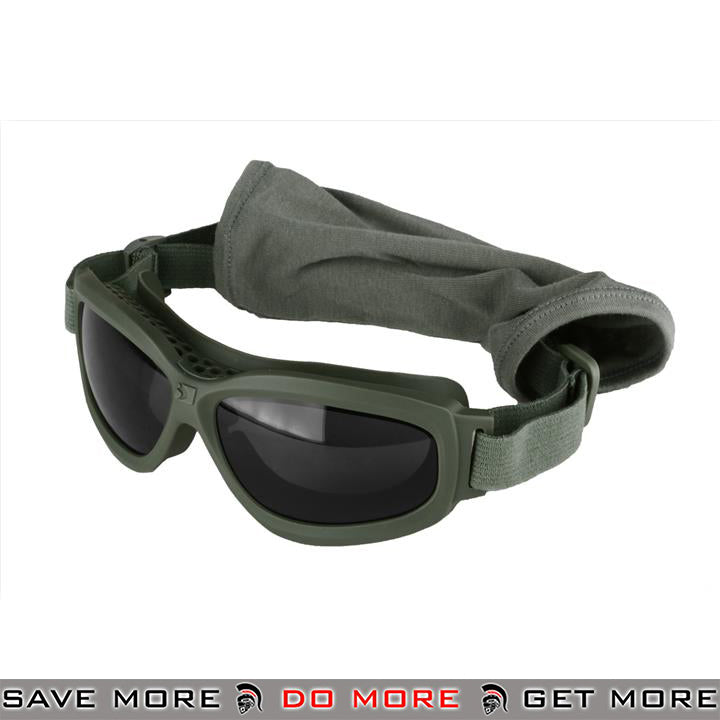 Bobster Airsoft Bravo ANSI Z87 Ballistic Rated Tactical Goggles w/ 3 Lenses BAL-BBRA101G - OD Green Head - Goggles- ModernAirsoft.com