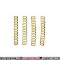 "DBoys 7"" in. Tactical Airsoft 20mm Rubber Rail Covers Set BI-07-TAN - 4 pcs, Tan Rail Accessories- ModernAirsoft.com"