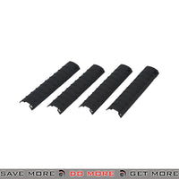 "DBoys 7"" in. Tactical Airsoft 20mm Rail Covers Set BI-08BLACK - 4 pcs, Black Rail Accessories- ModernAirsoft.com"