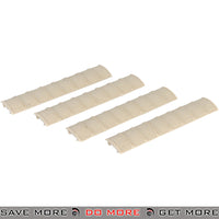DBoys Textured Enhanced Grip Rubber Rail Covers Set BIM-8TAN - 4 pcs, Tan Rail Accessories- ModernAirsoft.com
