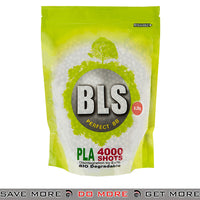 BLS 4000ct Biodegradable Perfect 0.28g White Airsoft BIO BBs - BLS-4BA-PLA28
