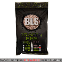 BLS 4000ct Perfect 0.25g 6mm Red Airsoft Tracer BBs - BLS-1KG-TR25R