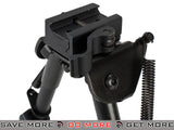 All-Platform Real Steel Retractable Harris Type Bipod (RIS + Stud Sniper Mount) by AIM Sports / NcStar Bipods- ModernAirsoft.com