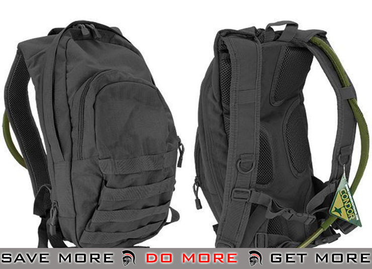 Condor Military Style Hydration Backpack w/ Molle (Black) Backpacks- ModernAirsoft.com