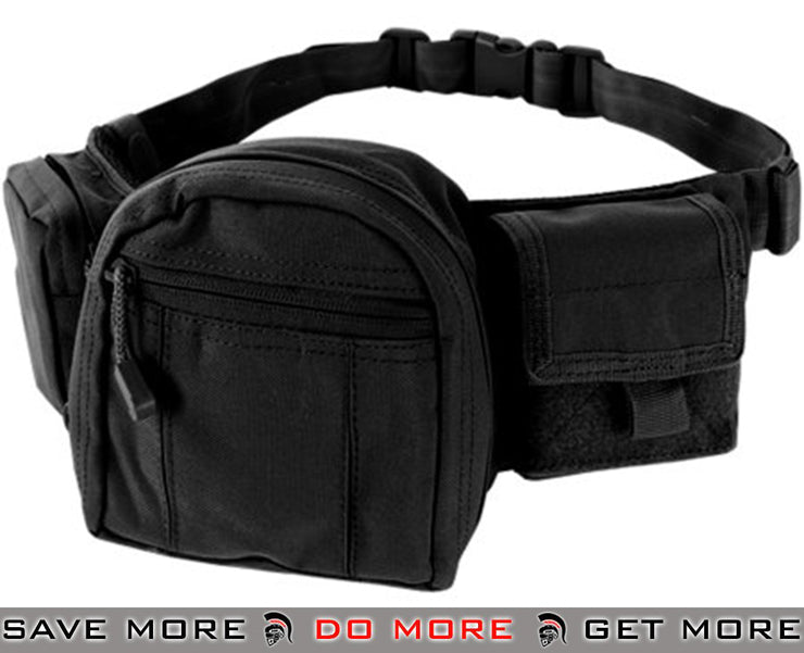 Condor Black Tactical Fanny Pack Waist Packs- ModernAirsoft.com