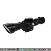 Lancer Tactical 3.5-10X40 ER Red & Green Illuminated Rifle Scope w/ Laser Sight Illuminated Scopes- ModernAirsoft.com