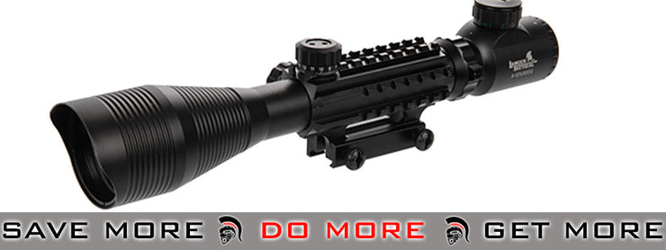 Lancer Tactical 4-12x 50mm Red & Green Illuminated Rifle Scope Illuminated Scopes- ModernAirsoft.com