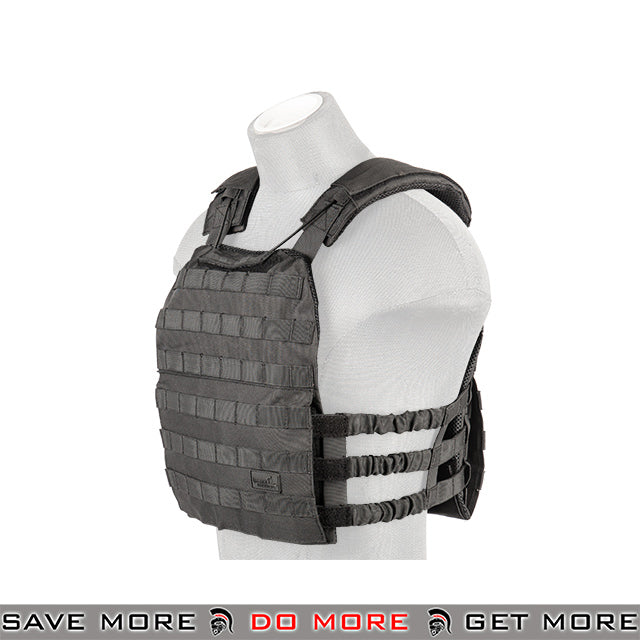Lancer Tactical Elastic Plate Carrier CA-1506BN - Black plate carrier- ModernAirsoft.com