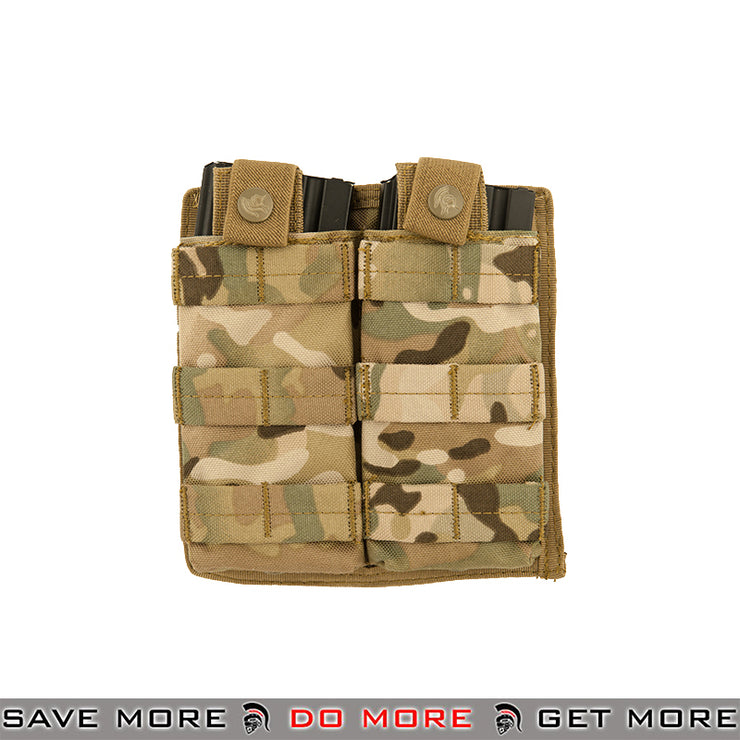 Lancer Tactical Double Snap Closure M4 / M16 Magazine Shingle Pouch CA-1513CN - Multicam Ammo Pouches- ModernAirsoft.com