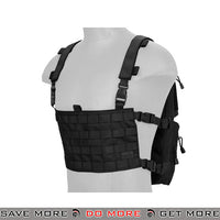 Lancer Tactical Quick Detach Expanding Pack & Chesty Rig Combo CA-1615BN - Black Backpacks- ModernAirsoft.com