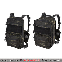 Lancer Tactical Quick Detach Expanding Pack & Chesty Rig Combo CA-1615MBN - Black Camo Backpacks- ModernAirsoft.com