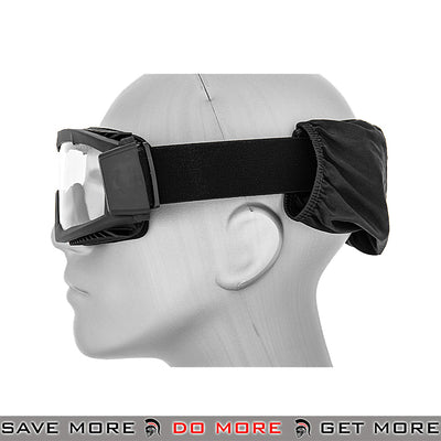 Lancer Tactical Airsoft Stylized Vent Safety Goggles CA-221B - Black, Clear Lens Head - Goggles- ModernAirsoft.com
