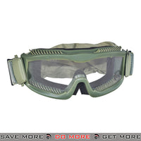 Lancer Tactical Airsoft Stylized Vent Safety Goggles CA-221G - OD Green, Clear Lens Head - Goggles- ModernAirsoft.com