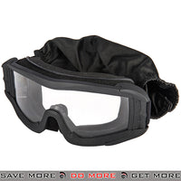Lancer Tactical Airsoft Polycarbonate Safety Goggles CA-226B - Black, Clear Lens Head - Goggles- ModernAirsoft.com